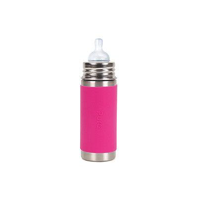 Pura Kiki Stainless Steel Baby Infant Insulated Bottle 9oz Pink Sleeve Brand New segunda mano  Embacar hacia Mexico