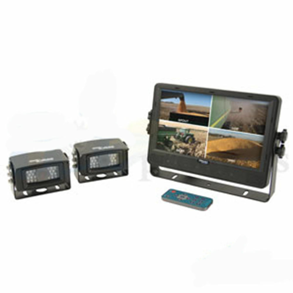 CabCAM CCT9M2CQ Quad Video System 2 Cameras LCD Monitor 9