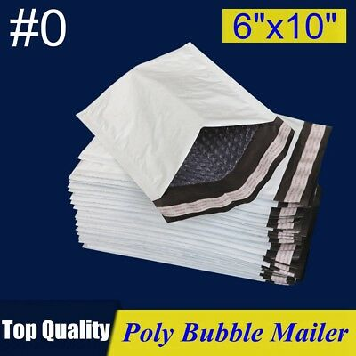 0 6x10 Poly Bubble Mailer Padded Envelope Shipping Bag 6x10 253050100250p