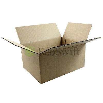 1-100 8x6x4 Ecoswift Cardboard Packing Mailing Shipping Corrugated Box Cartons