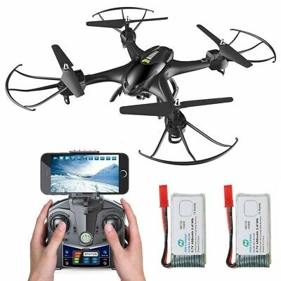 Holy Stone HS200 RC Drone with HD Camera  720P Altitude Quadcopter Two Batteries