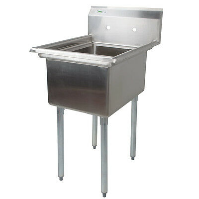 """22"""" LARGE BOWL Stainless Steel One Compartment Commercial Restaurant Prep Sink"""