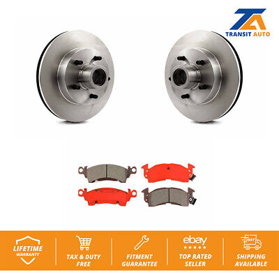 Front Disc Rotors And Hub Assembly & Semi-Metallic Brake Pads Fits Chevrolet G20 ()