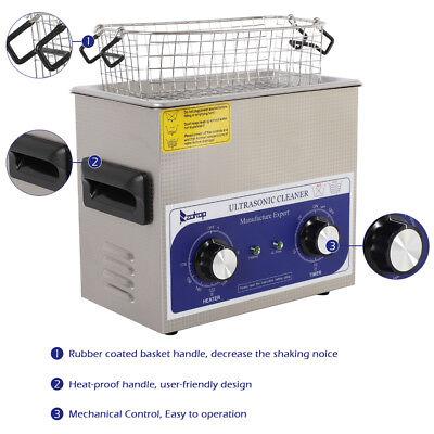 Stainless Steel 3l Liter Industry Heated Ultrasonic Cleaner Heatertimer Us