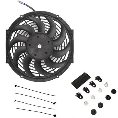 12 12 Inch 80W Electric Radiator Intercooler 12V Slimline Cooling Fan New