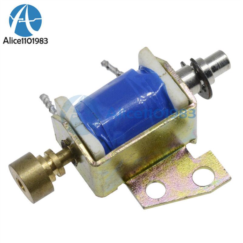 HCNE1-0416 DC12V Solenoid Electromagnet Push Pull Type Open Frame 10mm 2N Reset