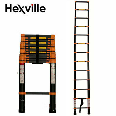 16.5ft Step Ladder Extensiontelescoping Light Weight Portable Folding Telescopic