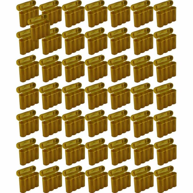 50 Brand New AA / AAA / CR123A Gold Battery Holder Storage Cases