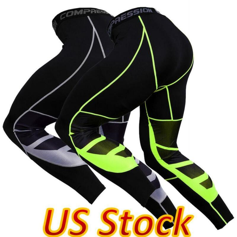 Men Compression Pants Base Layer Leggings Gym Sport Tight Running Pants Trousers