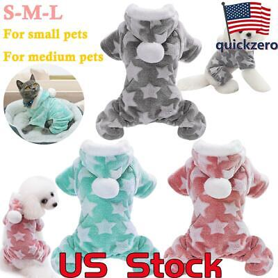 Cute Dog Clothes Jumpsuit Warm Winter Puppy Cat Coat Costume Pet Clothing Outfit