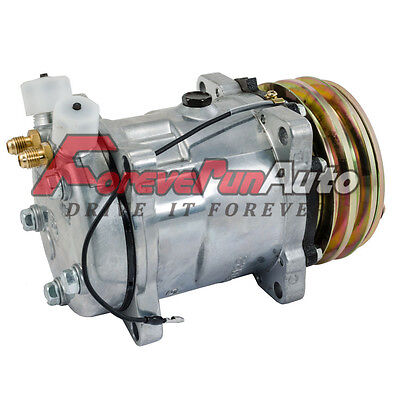 A/C Compressor For SD508 Sanden Style V-Belt 2 Groove Pulley 3/4