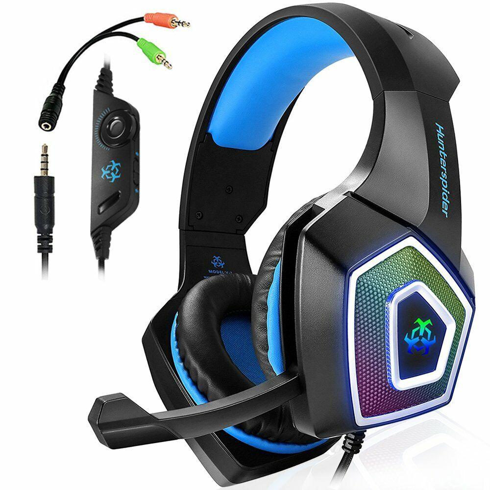 Gaming Headset Stereo Sound Kopfhörer mit Mikrofon für PS4 Xbox One PC Laptop DE