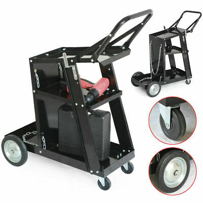 3-tier Welding Cart Plasma Cutter Welder Mig Tig Arc Universal Without Drawer