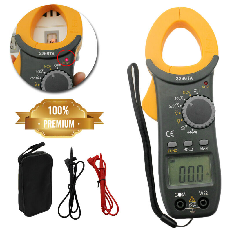 Digital Clamp Meter Tester AC / DC Volt Amp Multimeter Auto Ranging Current 400A