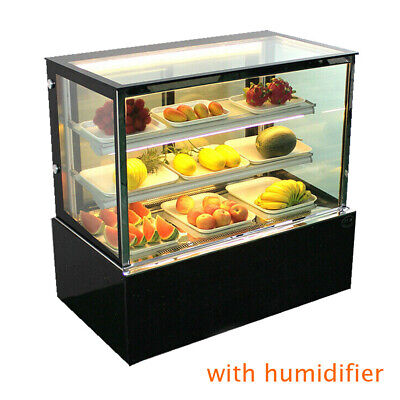 Back Door Refrigerated Bakery Showcase 3layer Display Case W Humidifier 220v
