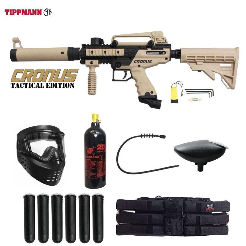 Tippmann Maddog Cronus Tactical Titanium Paintball Gun Marker Package Tan