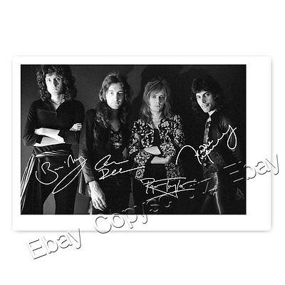 Queen - Roger Taylor, Brian May, Freddie Mercury, John Deacon Autogrammfoto