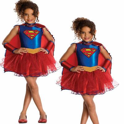 Supergirl Kinder Deluxe Kostüm Superheld Mädchen Outfit Welttag - Deluxe Supergirl Kostüme