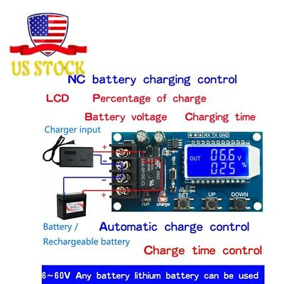 6-60v 10a Lithium Battery Charge Nc Control Lcd Display Module Protection Board