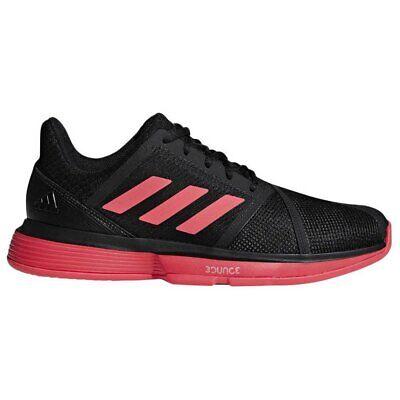 adidas CourtJam Bounce M Black Shock Red Men Tennis Shoes Sneakers CG6328 ()