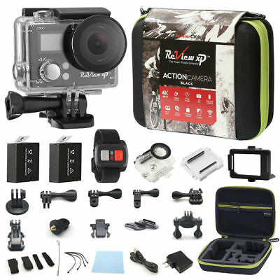 4K Action Camera Dual Screen Ultra HD 16MP Camcorder + Remote + Accessory Bundle