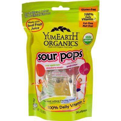 Yumearth Organics-Super Sour Lollipops (6-3 oz bags)