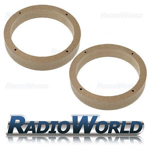 VW Golf/Passat/Fabia/Polo/Leon MDF Speaker Adaptor Kit Rings Spacers 165mm 6.5