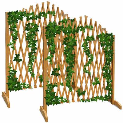 Paneles de Cerca de jardín enrejado de Madera Valla Set de 2...