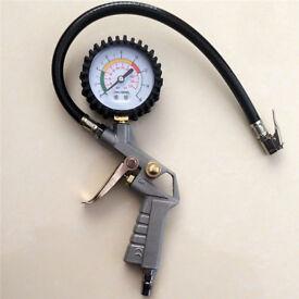 New Car Van Tyre Pressure Guage Meter Air Inflator Dial Compressor Checker Tool