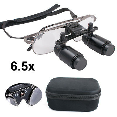 Usa 6.5x 300-500mm Dental Loupes Surgical Medical Binocular Magnifier New Sale