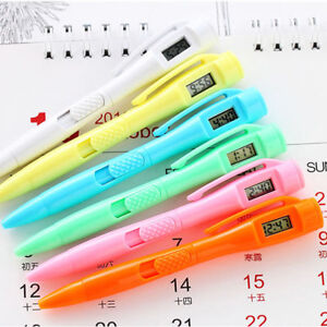 1x Creative Student Stationery Ball Point Pen Electronic Watch Ballpoint Gift JT