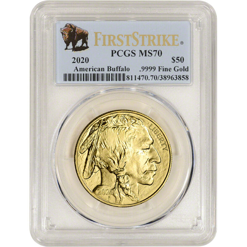 2020 American Gold Buffalo 1 oz $50 - PCGS MS70 First Strike Buffalo Label