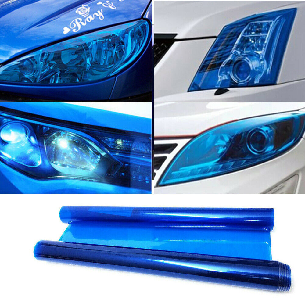 Glossy Red Color Changing Film Wrap Sheet Sticker Car Headlight Fog Tail Lights