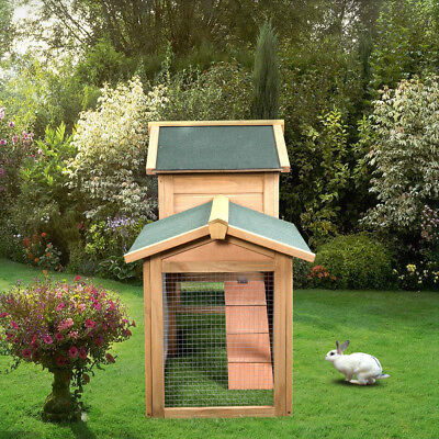 """55"""" Wooden Chicken Coop Hen House Rabbit Wood Hutch Poultry Cage Habitat Sturdy"""