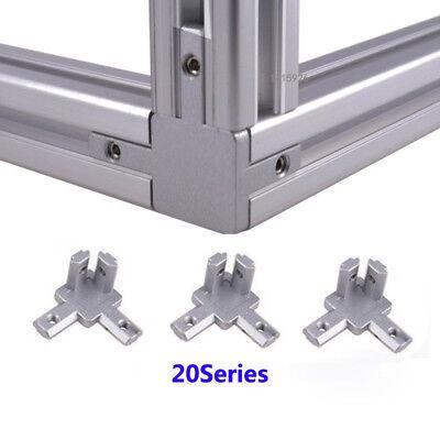 Aluminum T-slot Profile L Shape 3-way 90 Inside Corner Joint Bracket Connector