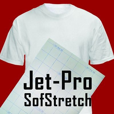 Jet-pro Sofstretch Inkjet Ink Heat Transfer Paper 8.5x11 50 Iron On Heat Press