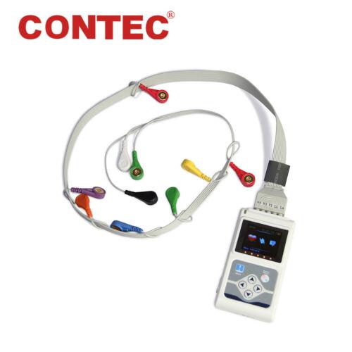 CONTEC TLC5000 ECG Holter 12 Channel 24h EKG Monitor PC Software Analyzer FDA&CE