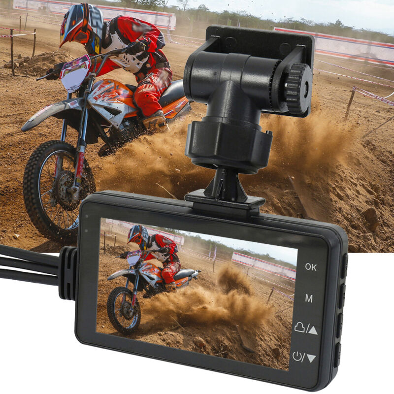 3In LCD Motorcycle Action Dual Camera Dash Cam Video Camcord