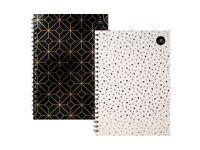 A4 Metallic Lined Hardback Notepad Notebook
