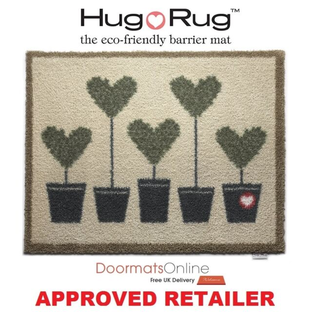 Hug Rug 85x65cm (TOPIARY 10) Dirt Trapper Door / Floor Mat Machine Washable