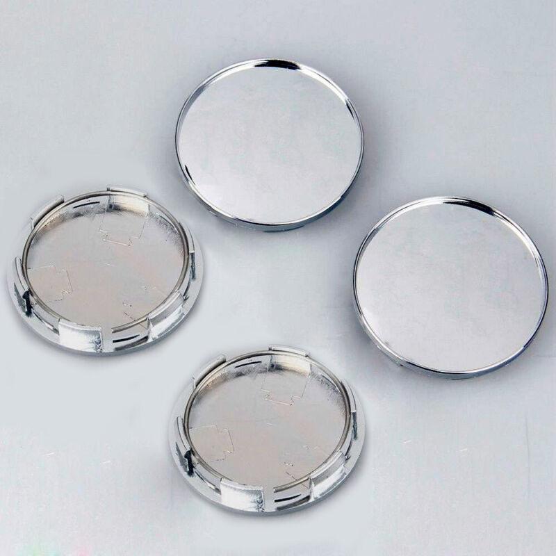 4x New 68mm Chrome Silver Universal Car Wheel Center Hub Caps Covers Set No Logo