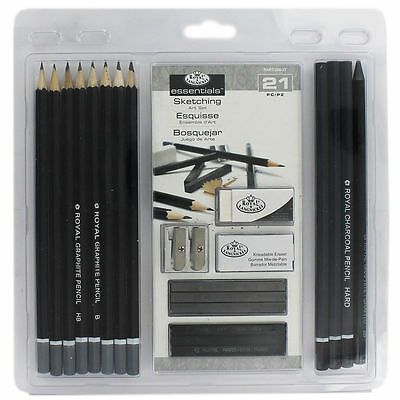 New! Royal & Langnickel Essentials Sketching Pencil Set, 21-Piece Free Shipping