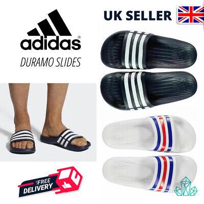 Adidas Unisex Duramo Slide Sliders Slippers Pool Slip on Sandals White Navy Red