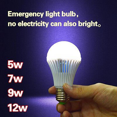 Energy Saving Battery - E27 Energy Saving Emergency LED Intelligent Bulb Outdoor Household Battery Light