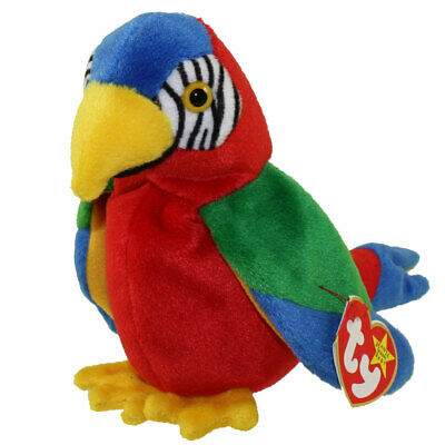 Collectible 1997/98 TY Beanie Baby Jabber the Parrot Tag Err
