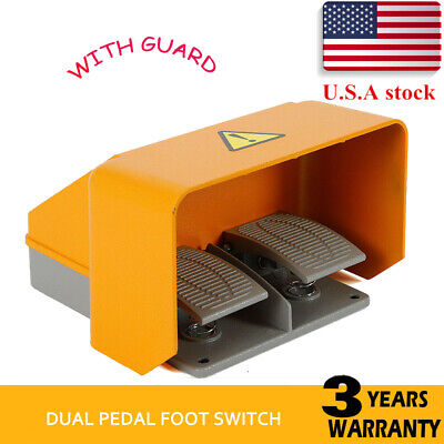 Usa Stock Industrial Aluminum Cast Heavy Duty Foot Switch Pedal Guard 15a