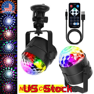 6 Colors Disco Ball LED Remote Control USB Portable DJ Stage Lights Bar Party - Disco Ball Color