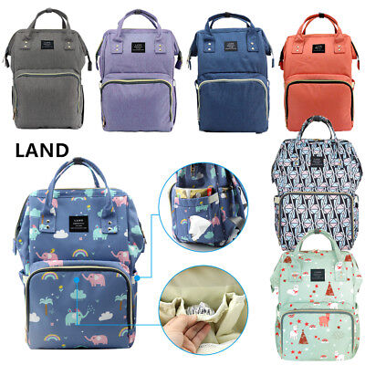 7 Color LAND Mommy Baby Diaper Bag Large Capacity Mom Backpack Baby Nappy Tote