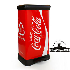 Curver Mülleimer Treteimer Coca cola  50 Liter Coca-Cola Abfallbehälter Deco neu
