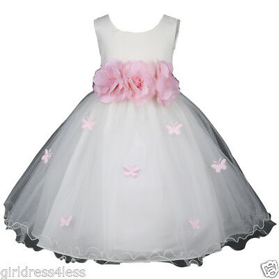 New Ivory Butterfly Petals Halloween Party Princess Costumes Infant Baby Dress - Infant Princess Halloween Costumes
